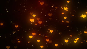 Valentine Heart Lights 2 Loopable Background stock footage