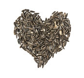 Valentine heart of linseed Stock Photography