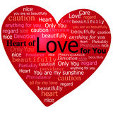 Valentine Heart of love Royalty Free Stock Photo