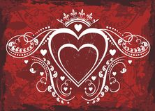 Valentine heart love frame Royalty Free Stock Photo