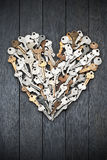 Valentine Heart Love Keys Royaltyfri Foto