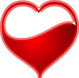 Valentine Heart Love Logo Vector rouge abstrait Images stock