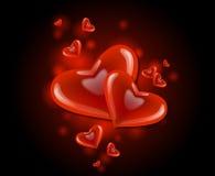 Valentine heart. Valentine love heart theme illustration vector illustration