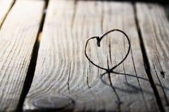 Valentine heart - love or wedding vintage card Royalty Free Stock Photos
