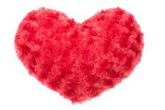 Valentine Heart Made Out des roses d'oreiller Photos stock