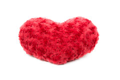 Valentine Heart Made Out des roses d'oreiller Photographie stock