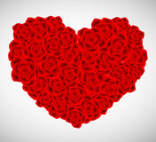 Valentine heart made from roses Royalty Free Stock Image