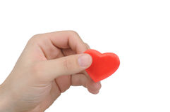 Valentine heart in a male hand Stock Photography