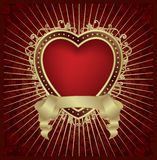 Valentine heart medallion - vector royalty free illustration