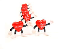 Valentine heart messages Royalty Free Stock Photo
