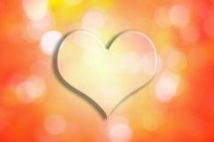 Valentine Heart met bokehachtergrond Stock Afbeelding