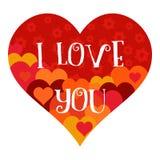 Valentine Heart mit Muster lizenzfreie abbildung