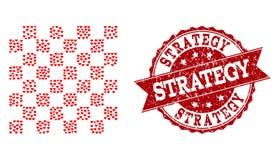 Valentine Heart Mosaic del icono y del sello de goma del tablero de ajedrez stock de ilustración
