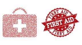 Valentine Heart Mosaic van Medisch Gevalpictogram en Rubberverbinding stock illustratie