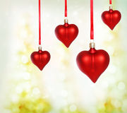 Valentine Heart Ornaments Royalty Free Stock Photo