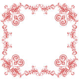 Valentine heart ornaments decorative frame Stock Image