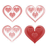 Valentine Heart of ornaments Royalty Free Stock Images
