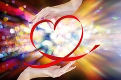 Valentine Heart. Partie de nuit Photographie stock libre de droits