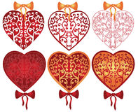Valentine heart pattern. There are hearts with pattern Stock Photos