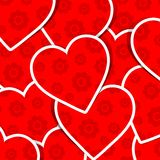 Valentine heart pattern Royalty Free Stock Photo