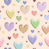 Valentine heart pattern vector. Little cute Stock Images