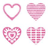 Valentine heart with patterns, set Stock Image
