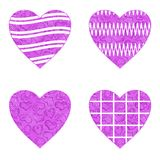 Valentine heart with patterns, set Stock Photo