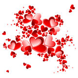 valentine heart petals blooming Stock Photos