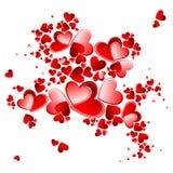 Valentine heart petals blooming Stock Photos
