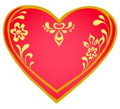 Valentine heart, pictogram Royalty Free Stock Images