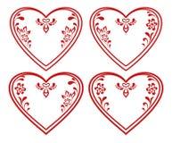 Valentine heart, pictogram, set Royalty Free Stock Images