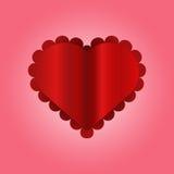 Valentine heart. On purple background Royalty Free Stock Image