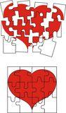 Valentine heart puzzle Stock Photos