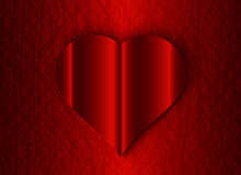 Valentine heart the red background texture. Valentine heart on the red background texture stock illustration