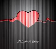 Valentine heart. Red Valentine heart. Vector art Stock Photography