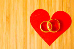 Valentine heart rings Stock Photography