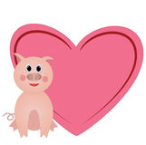 Valentine with heart  with room for text Stock Images