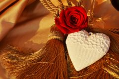 Valentine, heart and rose royalty free stock images