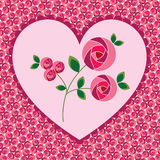 Valentine heart roses background Royalty Free Stock Images