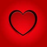 Valentine Heart rosso Fotografia Stock Libera da Diritti