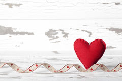 Valentine Heart Rustic Background Stock Photography