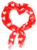Valentine heart scarf Royalty Free Stock Image