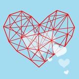 Valentine Heart - Schmutz-Vektor-Illustrations-Hintergrund Stockbild