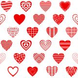 Valentine heart, seamless Royalty Free Stock Image