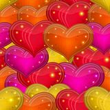 Valentine heart, seamless Royalty Free Stock Photo