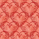 Valentine heart, seamless. Valentine holiday seamless with pictogram hearts, abstract pink background pattern. Vector eps10, contains transparencies Stock Image