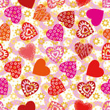 Valentine Heart, Seamless Royalty Free Stock Images