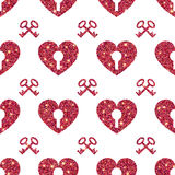 Valentine Heart Seamless Pattern 1 Photos libres de droits
