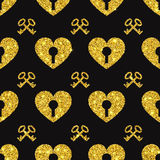Valentine Heart Seamless Pattern 1 Images libres de droits