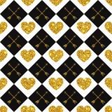 Valentine Heart Seamless Pattern 1 Image libre de droits